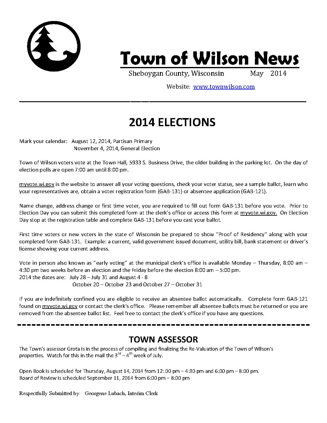 newsletters town of wilson part 2